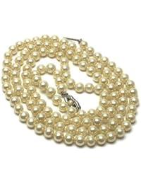 ad0bee9bd46a Collar cadena joyas perlas from Mallorca Mix Pearl Perlas 6 mm 80 cm  fabricado Spain