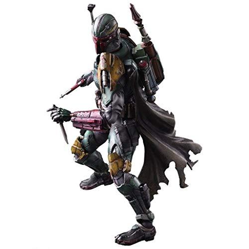 ARTÍCULOS DE JUEGO VARIANTES Kai Boba Fett Figura de acción pintada en PVC - Modelo de personaje de acción de Alien War - Equipado con armas de personaje de acción y accesorios de efectos de personaje