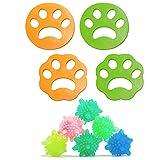 Fiyuer 4PCS Raccogli Peli Animali Lavatrice Depilatore per Cani e Gatti per lavatrici Pet Fur Catcher Rondella Asciugatrice Palla Galleggiante