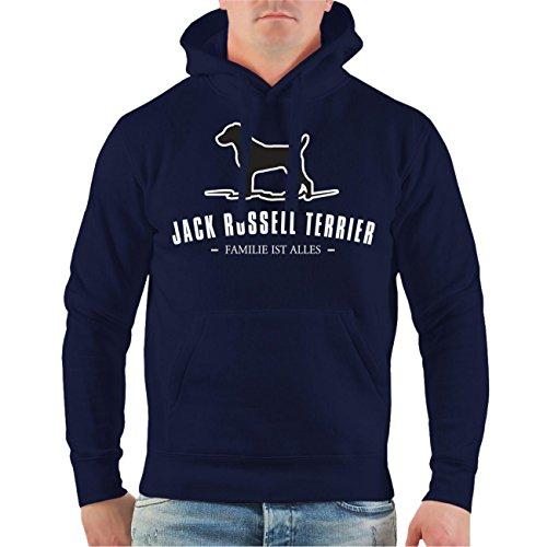 Männer und Herren Kapuzenpullover Jack Russell Terrier Größe S - 8XL Dunkelblau