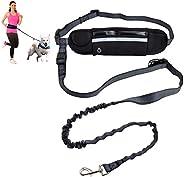 barf-alarm joggingkoppel hundar med magrem inkl väska – 180 cm reflekterande frihandtag – midja hundkoppel fri
