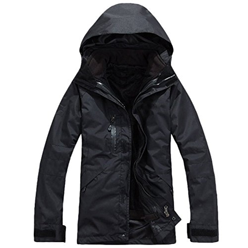 Linyuan Outdoor Mens Jackets Jacket Waterproof Breathable Sports Clothing Black
