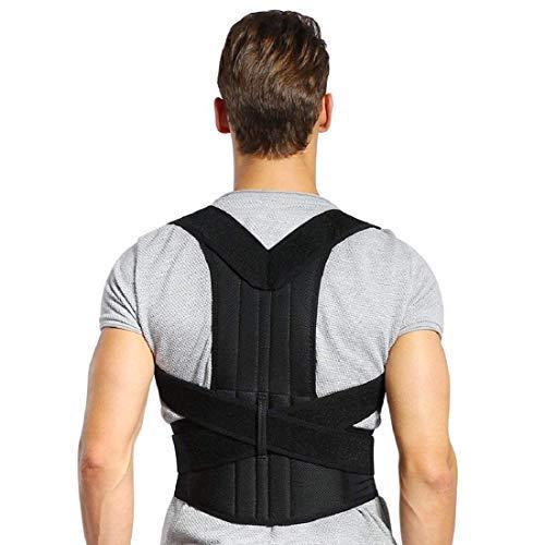 Haltungskorrektur Doact Geradehalter zur Haltungskorrektur Rücken Schulter Verstellbar Atmungsaktiv Rückenbandage Rückenhalter Haltungskorrektur für Damen und Herren L(Taillenumfang Taille 96-114cm)