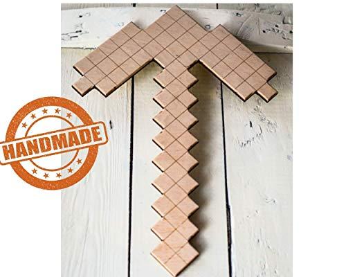 Handmade Holz Spitzhacke kompatibel mit Minecraft Spiel