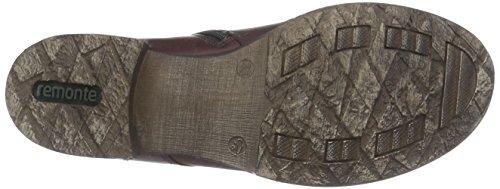 Remonte D4379, Stivali Combat Donna Rosso (Chianti/granit/wine)