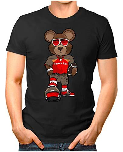 OM3® - Tampa-Bay-Bear - T-Shirt | Herren | American Football Shirt | 4XL, Schwarz