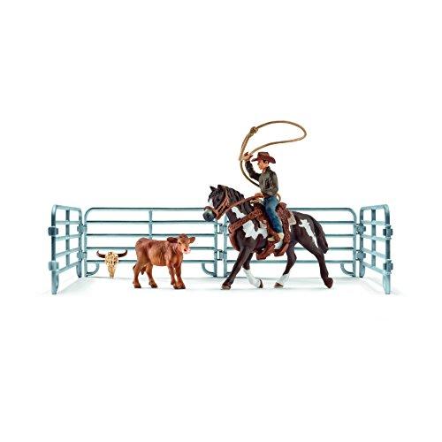 Schleich - Lazo por Equipos con Vaquero (41418)