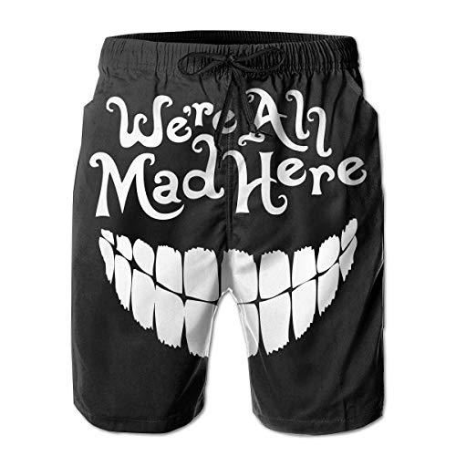 r sind alle Hier wütend (Clown Smile) Strandshorts Schnell trocknend Spitze Strand Boardshorts Mesh Beachwear XXL ()