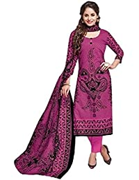 Nafees Creations Women's Cotton Unstitched Dress Material (Nafees- 0001_Purple_Free Size)