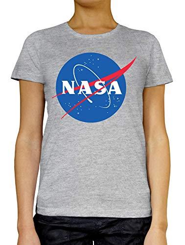 NASA Logo Art Space Travel Exploration Stylish Clo Camiseta de Mujer Blanco...