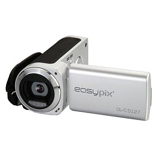 "Easypix DVC5127 Trip - Videocámara de 12 Mp (pantalla de 2.7""), negro, plata"