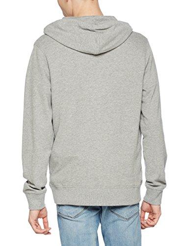 JACK & JONES Herren Kapuzenpullover Jorblogger Sweat Hood Grau (Light Grey Melange Fit:Reg)