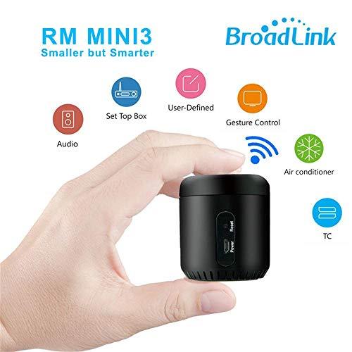 Broadlink RM-Mini3 Black Bean – WiFi/IR Smart Home Hub Box Control inteligente de aplicación – Soporte 80.000 + IR Controlled Home Dispositivos TV, aire acondicionado, DVD