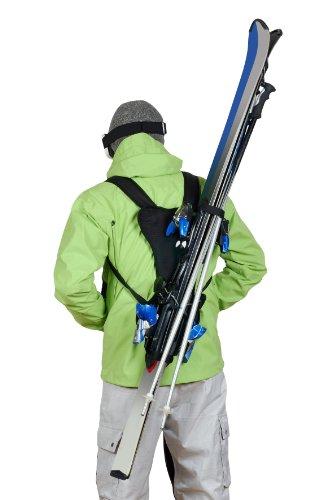 Wantalis - Skiback - Un produit révolutionnaire pour porter vos skis en libérant vos mains - Bretelles adaptables...