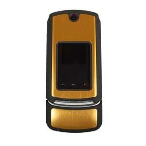 Technocel Rubber Coated Shield for Motorola K1M - Gold/Black Titan