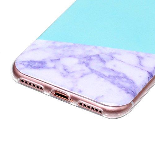 3 pcs Caso Soft per iPhone 7 / 8, Asnlove Morbida Elegante Custodia Ultra Sottile TPU Gomma Gel Cassa Motif di Colore Case Antiurto TPU Silicone Trasparente Cover Posteriore, Gruppo-4 Stile-7