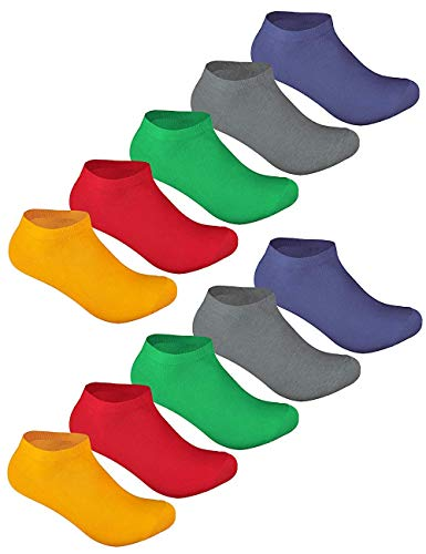 Sockenschuss 10   20   30 Paar Sneaker Socken Damen & Herren Schwarz & Weiß - Lange Haltbarkeit Dank Bester Qualität der Baumwolle (10x Funny-Color-Mix, 43-46)