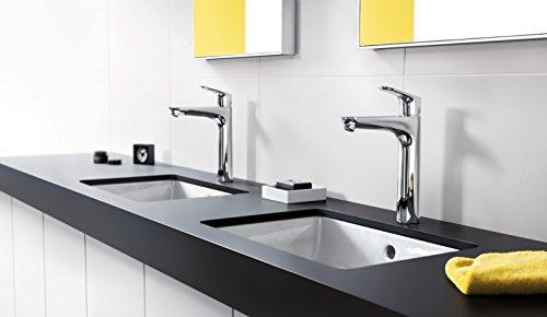 Hansgrohe – Waschbeckenarmatur, mit Ablaufgarnitur, QuickClean, EcoSmart, Chrom, Serie Focus 190 - 4