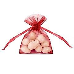 Idea Regalo - P&D Confezione 20 Sacchetti Organza, Rosso