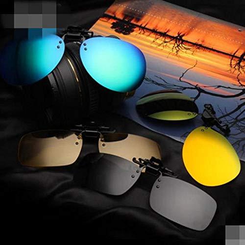 Fahrer Tinte (Authentische Männer und Frauen polarisierten Sonnenbrillen Clip-Typ Auge Flut Myopie Sonnenbrille Fahrer Nachtsichtbrille Platz schwarz grau polarisierten Clips, Modelle Tinte grün polarisierten Clip)