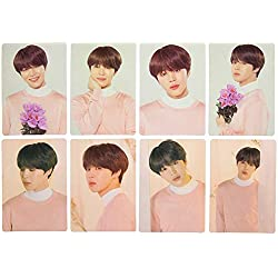 CAR-TOBBY KPOP BTS Revista Polaroid Lomo Tarjetas Suga Jungkook V HD Photocard Póster 1 uds. por Paquete
