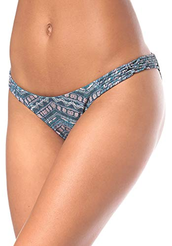 Bikini Bottom Bikinis, Black AOP W/Pink, 42 ()