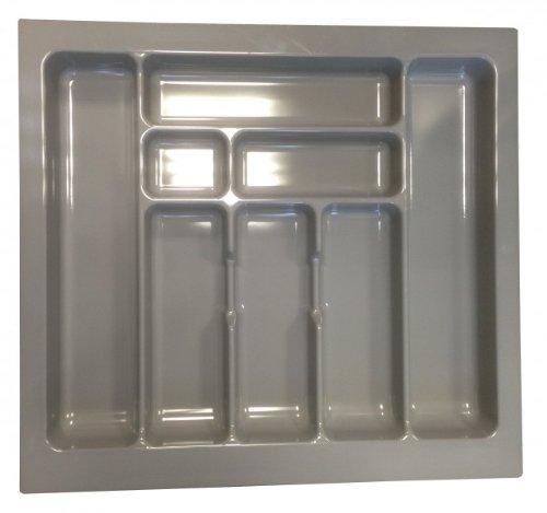 Besteckeinsatz Besteckkasten 60 cm Schubkasten grau