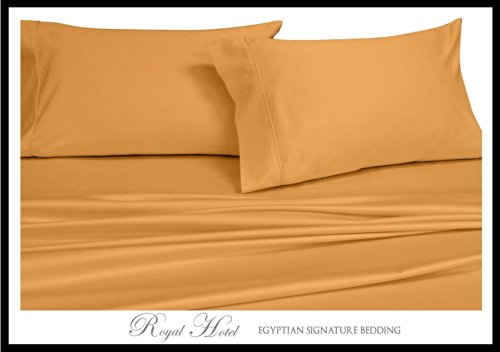 Royal Hotel 's 8pc Gold massiv california-king Größe bed-in-a-bag Gänsedaunen Tröster Set Fadendichte 300 100% Rayon aus Bambus