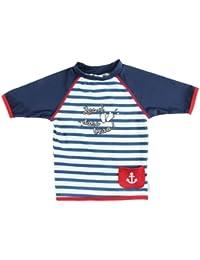 T-Shirt Maillot Anti-UV - Enfant - Unisex - Les 2 Pieds Dans l'Eau - Elly La Fripouille