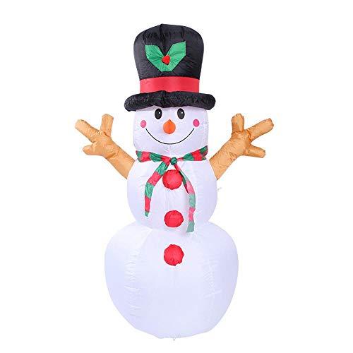YANKAN Selbstaufblasbare Dekoration Weihnachtsbeleuchtung • Gartendekoration LED-Beleuchtung,(Weihnachten Aufblasbare Schneemann Gas-Modus 1.6 M) (Aufblasbare Schneemann Weihnachten)