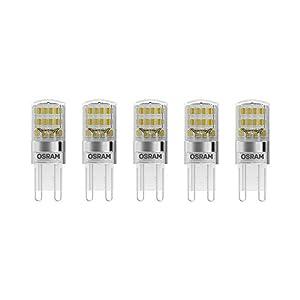 Osram LED Base Pin G9 / Lampe, G9, 1, 90 W, 20-W-Ersatz - für, klar, Warm White, 2700 K, 5 - er-Pack
