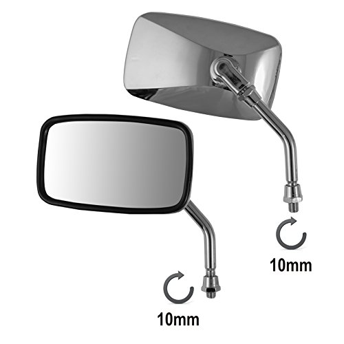 A-pro Universal Mirrors Rearview Scooter Motorcycle Moped Motorbike Chrome M10