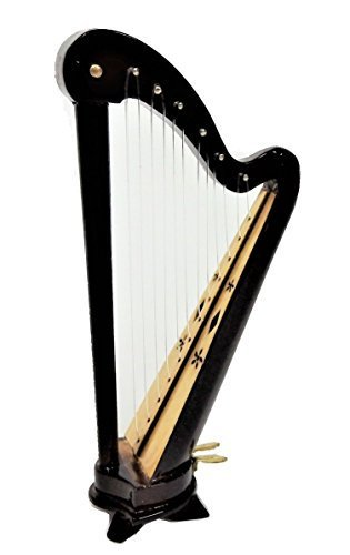 Melody Jane Puppenhaus Walisisch Harfe Miniatur Musik Zimmer Instrument 1:12 Maßstab