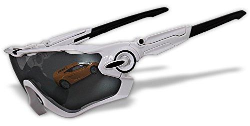 4 Linsen Chrom Iridium Switchlock Polierte Rahmen Original Polarisierte Sport Sonnenbrillen (JB) (JB02)