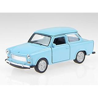 Trabant 601 blau DDR Ostalgie Modellauto Welly 1:34
