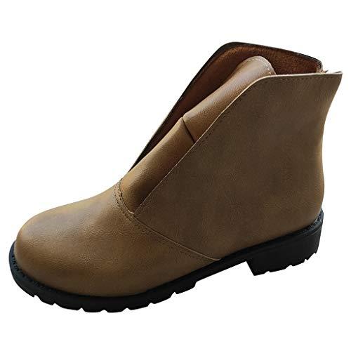 Sanahy Stiefel und Stiefeletten Damen, Retro Schuhe Arbeitsschuh aus weichem Leder, Vintage Ankle Winter Boot Ankle Boots für die ganze Saison