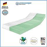 Ravensberger Matratzen® 7-Zonen Matratze Softwelle | HR Kaltschaummatratze H3 RG 45 (80-120 kg) | MADE IN GERMANY - 10 JAHRE GARANTIE | ÖKO-TEX® 100 Bezug Baumwoll-Doppeltuch 140x200 cm