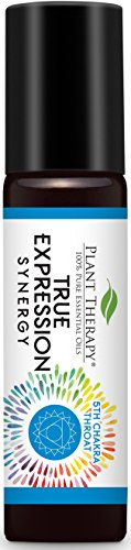 Plant Therapy Chakra 5 True Expression Synergy (Throat Chakra) Pre-Diluted Roll-On 10 mL (1/3 oz) 100% Pure