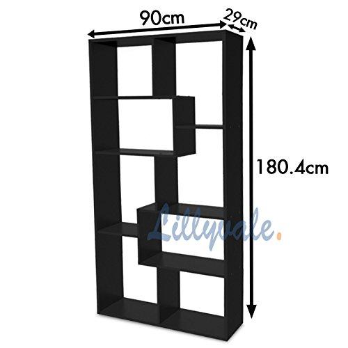 White/Black Bookcase Rack Display Unit ...