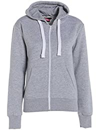 Lona Frauen Tiefebene Reißverschluss Fleece Bekleidung Kapuzenpulli Sweatshirt Damen-Jacken-Mantel