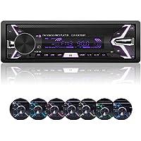 Autoradio, YOSASO 7 Farben Autoradio Stereo MP3 Player Audio Unterstützt USB/SD / AUX/Bluetooth / FM mit abnehmbarem Panel