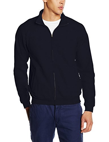 Fruit of the Loom Herren Zip Front Classic Sweatshirt, Dunkles Marineblau, L