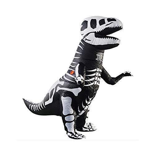 Plüsch Kostüm Trex Kinder - CLCYL Dinosaurier Aufblasbare Kostüm Kinder Aufblasbare Dinosaurier Kostüm T Rex Kinder Halloween Cosplay Tyrannosaurus Rex Tyrannosaurus Eltern-Kind Bühne Kleidung Kostüme