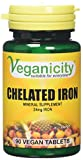 Veganicity Chelated Iron 24mg Women's Health Mineral Supplement - 90 Tablets