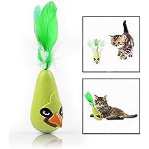 OFKPO Juguete Eléctrico del Gato del Vaso del Pájaro para Gatos, Automático de la Sacudida