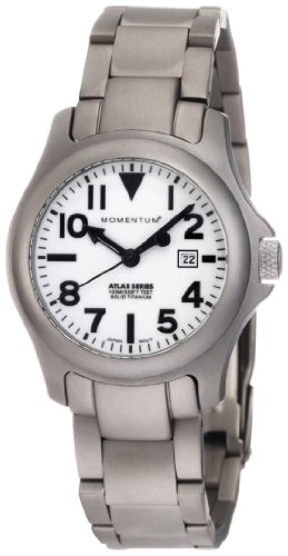 Momentum Ladies 1M-SP01W0 Atlas White Dial Titanium Bracelet Watch