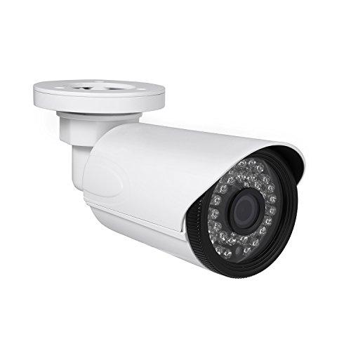 Revotech® - I6038-P POE Resistente al Agua HD 1920 x 1080P 2.0MP Para Exteriores IP Cámara 36 LED de Visión Nocturna Cámara con Seguridad a toda Prueba ONVIF P2P CCTV Cámara con IR-Cut (blanco)