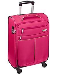 D & N Koffer M 55x34x20cm Pink 6754 04 Bordgepäck Handgepäck Extra Leicht Nylon Stoff Weichgepäck Reisekoffer Kabinen Trolley Bowatex