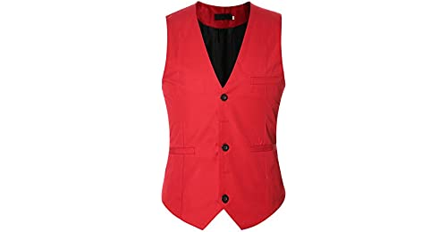 Hombres Vestir Formal Chaleco De Negocios Traje De Vestir Chalecos Sin  Mangas f4fb775a2713