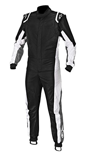 Alpinestars Kart Anzug, Schwarz Anthrazit/Weiß, 46
